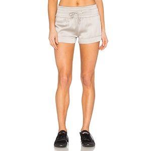 Blanc Noir Silk Lounge Shorts NWT
